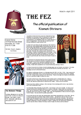 The Fez 2011 03-04 Issue