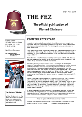 The Fez 2011 09 10 Issue Color
