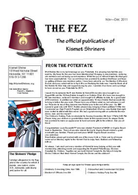 The Fez 2011 11 12 Issue